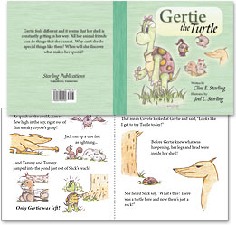 Book interior typography and book cover design: Gertie the Turtle