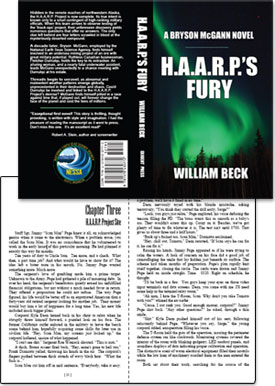 Book typography and book cover design: HAARPS Fury