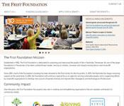 Completed website for The Frist Foundation