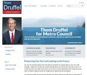New Website for Thom Druffel for Metro Council