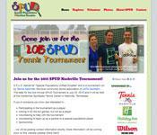 S.P.U.D. Tennis Tournament Website